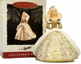 Barbie Hallmark 1994 Holiday Collector's Series Keepsake Ornament Gold Gown NEW - $5.44