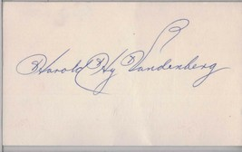 HY VANDENBERG Auto/Autograph 3x5 Index Card Red Sox/Giants/Cubs (1906-1994) - $8.96