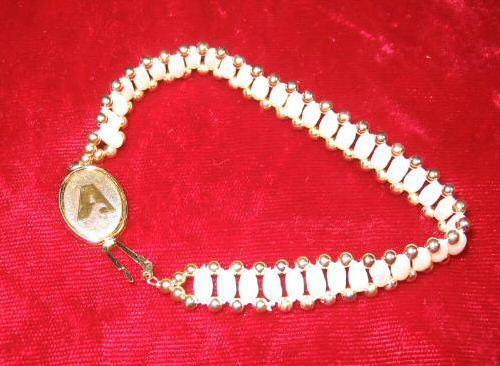 Vintage Jostens Pearl & Gold Sterling Bracelets