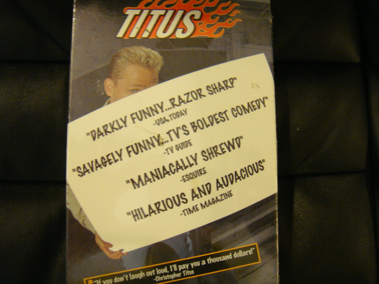 TITUS EMMY VHS 3 EPISODE CHRISTOPHER TITUS TV SHOW