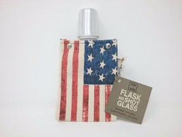 tote + able Canvas Flask Americana 4 Ounces - $11.64