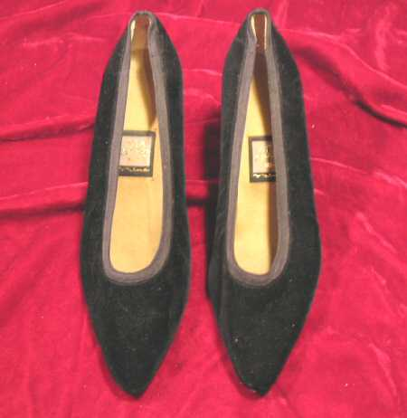 Nina Black Velvet Shoes Pumps Heels 8 M