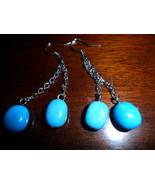BoHo Dangle Faux Turquoise Earrings  - $8.00