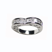3CTW Princess Cut Clear Cubic Zirconia Heart Bridalband Ring - $19.99
