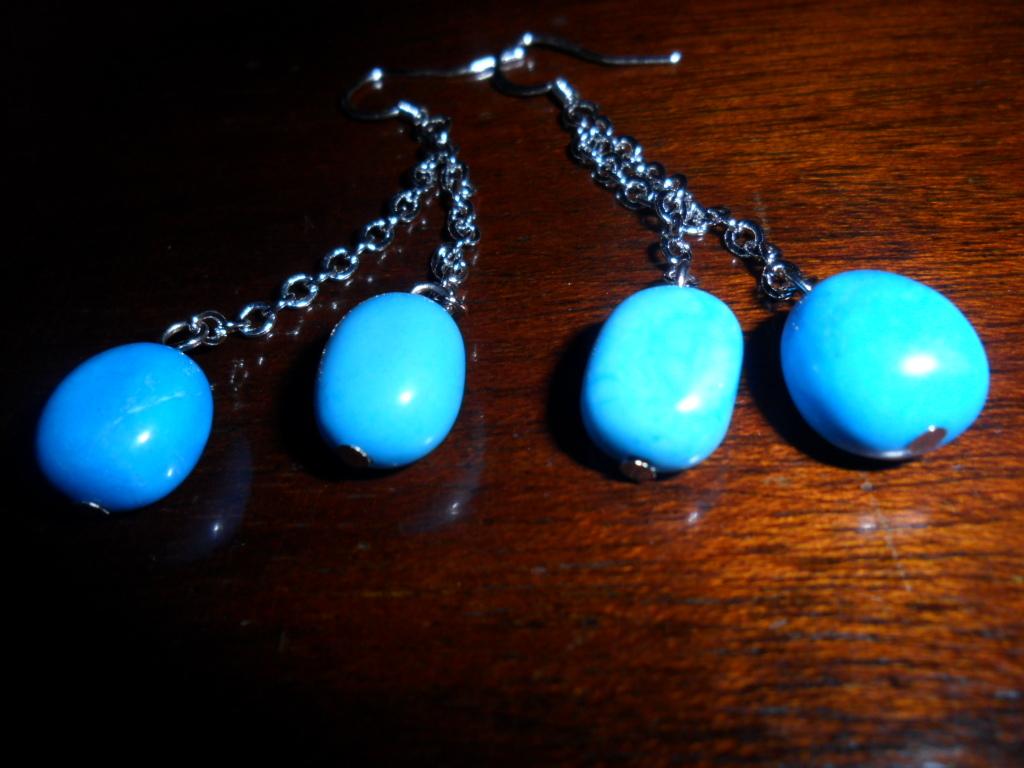 BoHo Dangle Faux Turquoise Earrings