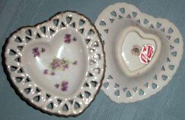 Lefton China  2 heart shape mint dishes  dainty & decorative - $24.00