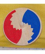Toycrafter Whirligig spinning Top, Old Color Wheel, wooden 1985-89 - $4.75