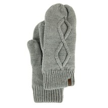 Timberland Women's Fleece Lined Cable Knit Mittens Style A1EME - $29.69