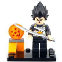 Vegeta Anime Cartoon Dragon Ball Z Lego Toys Minifigure - $3.25