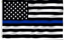 free shipping 90*150cm  BlueLine usa Police Flags, Thin Blue Line USA Fl... - £7.51 GBP