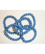 5 Strands Cornflower Blue Opalite w/PicassoFin Czech Glass Rondell Beads... - $28.99