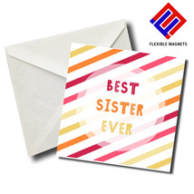 Best Sister Ever Stylish Magnet for refrigerator. Great Gift! - $5.92
