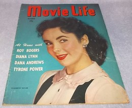 Movie Life Magazine October 1948 Elizabeth Taylor cover Roy Rogers - $12.95