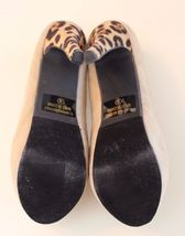 Pumps Stiletto 8 Ollio Suede Leopard Heels Size Tan Faux Platform Y1fYqxgTnw
