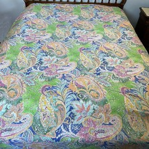 Ralph Lauren Home Flying Point Paisley Twin Bed Sheets Flat and Fitted S... - $98.99