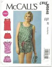McCall's 6848 Misses' Romper, Sleep Shorts, Eye Mask, Pajamas, Loungewea... - $14.99