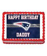 New England Patriots Football Edible Cake Image Cake Topper - $8.98+