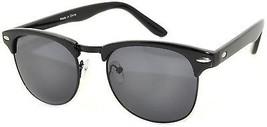 Stylish Classic Black Half Frame Sunglasses Smoke Lens - $19.05