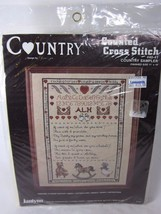 """Janlynn Counted Cross Stitch Kit COUNTRY SAMPLER 11"""" x 14"""" vintage - $19.79"""