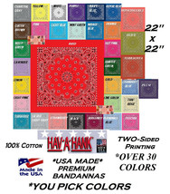 4-MIXED*USA MADE Paisley HAV-A-HANK BANDANA Head Wrap Neck Scarf Hanky S... - $39.99
