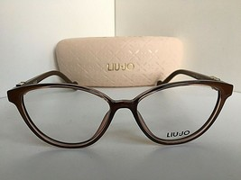 New LIU JO LJ 2618 LJ2618 210 Polished Brown 53mm Rx Women's Eyeglasses Frame  - $99.99