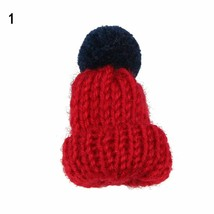 Brooch Pin Pom Pom Fashion Knitted Hat Women Christmas Dress Scarf Accessory New - $6.16