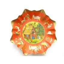 Vintage Western Germany Paper Cardboard Bowl Hansel and Gretel Fairy Tale - $14.00