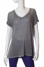 Calvin Klein Performance Women's Short Sleeve Burnout T-Shirt, Quartz Si... - $18.80
