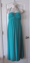 Apt. 9 Neck Loop Tie Halter Style Maxi Dress Green Women's Sz XL NWT MSR... - $27.39