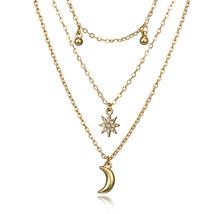 Fashion Women Jewelry Multi Layers Layered Star Pendant Choker Necklace - $6.99