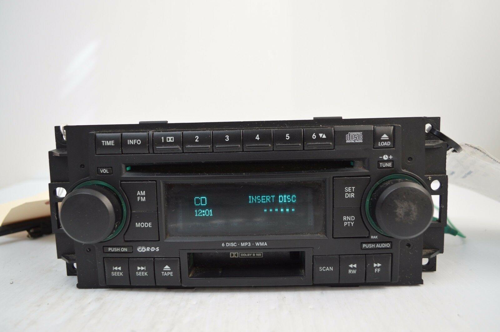 2005-2007 CHRYSLER DODGE RADIO 6 CD MP3 CASSETTE PLAYER TESTD 5091523AL AA36#016 image 2