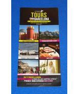 BRAND NEW FASCINATING TOURS FROM BARCELONA BROCHURE CATALUNYA BUSTURISTI... - $3.99