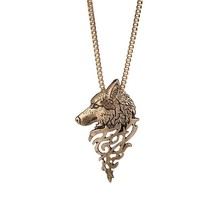 European and American retro domineering wolf head necklace Original fash... - $7.84