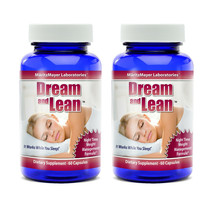 Dream and Lean Weight Loss All Natural Safe Sleep Aid Supplement 2 Bottles - $13.99