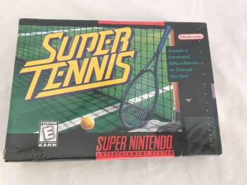Super Nintendo SNES Super Tennis Video Game, New and Sealed