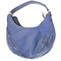 Liz Claiborne Small Blue Polyvinyl  Purse Nice!!! - $12.86
