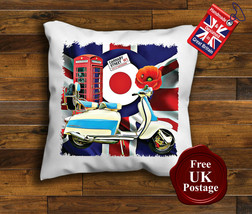 Lambretta Scooter Cushion Cover, Lambretta, Union Jack, Mod, Target, Cushion - $8.89+