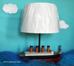 POTTERY BARN SHIP (STEAM) COMPLETE LAMP - NIB - SMOOTH SAILING INTO FUN ... - $149.95