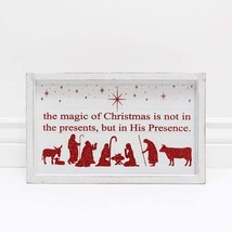 Adams Christmas Decor - Not Presents but His Presence Glitter Box Sign - $22.95