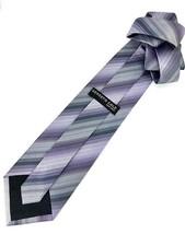 New KENNETH COLE New York SILK TIE Purple & Silver Men's Neck Tie Designer - $13.95