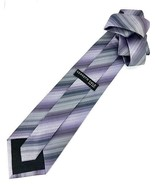 New KENNETH COLE New York SILK TIE Purple & Silver Men's Neck Tie Designer - $13.95