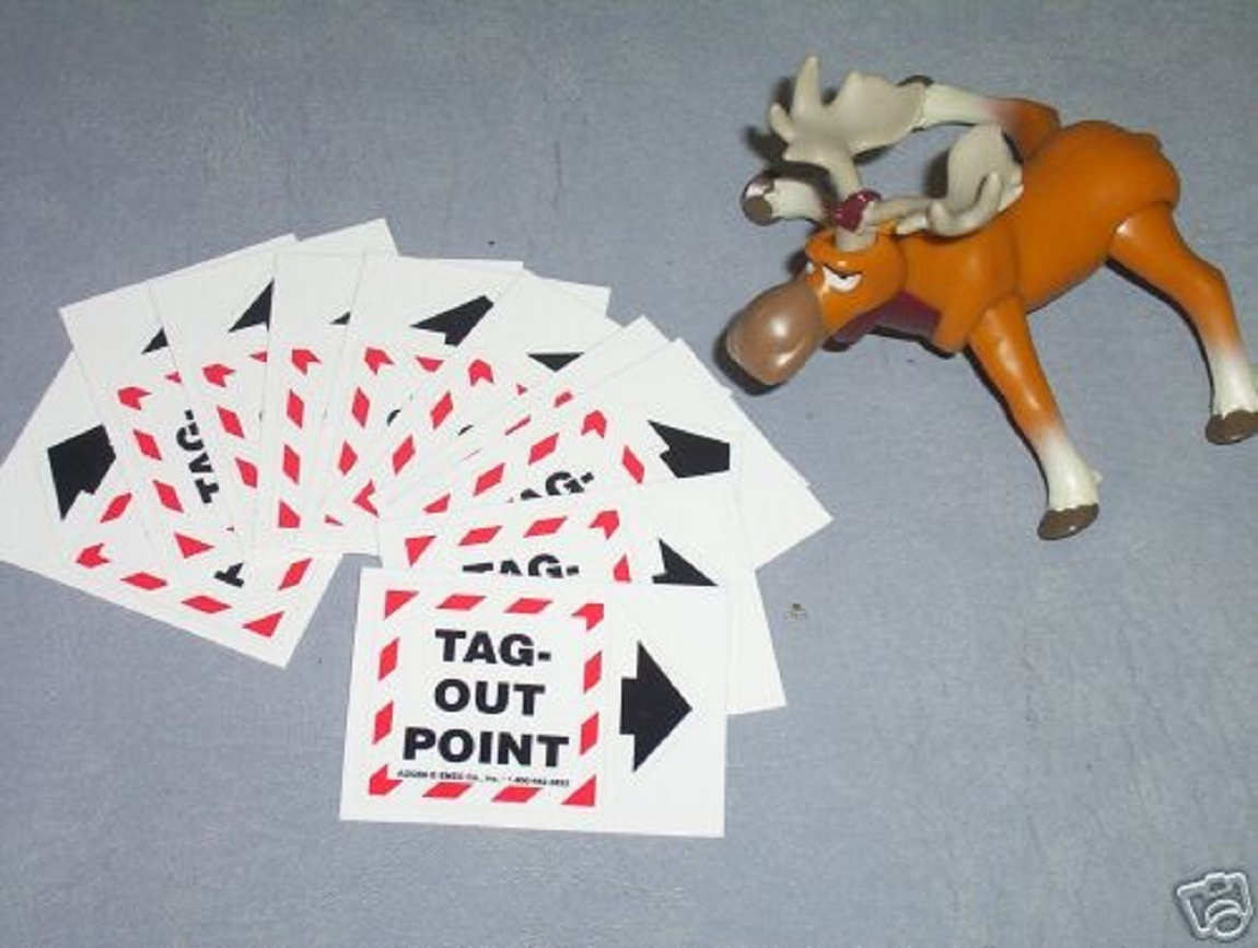 ADQS9 EMED Co Inc Tag-Out Point Decals  Lot of 20