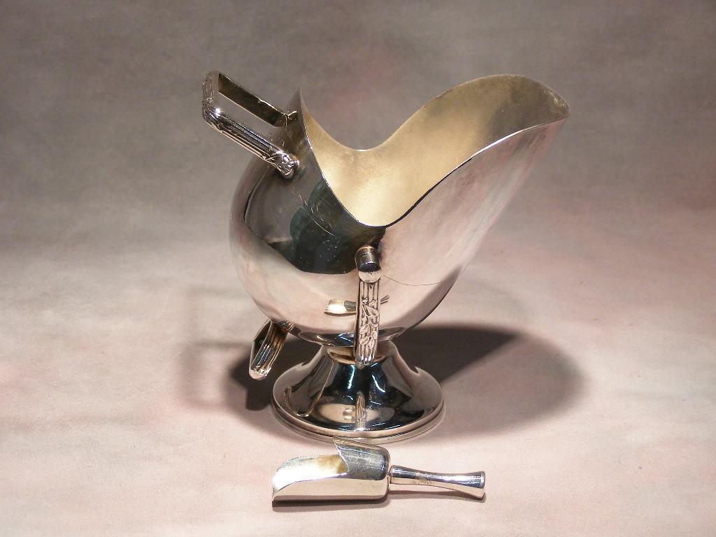 Silver Plated Sugar Bowl & Scoop - (sku#1729)