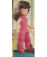 """Knitting pattern for 12"""" dolls catsuit. From a magazine, PDF - $1.50"""