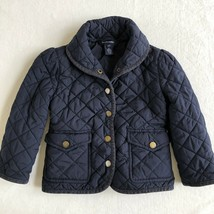 Polo Ralph Lauren Youth 3T Girls Quilted Jacket Water Resistant Blue - $24.99