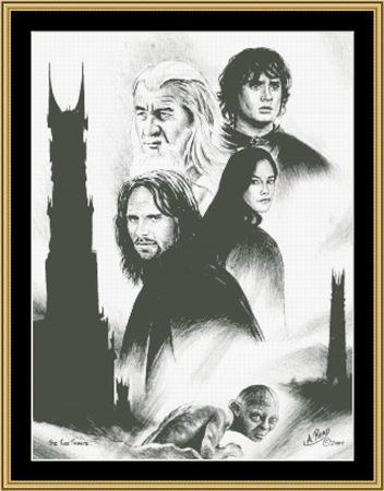 Primary image for The Two Towers Lord Of The Rings movie cross stitch chart Mystic Stitch