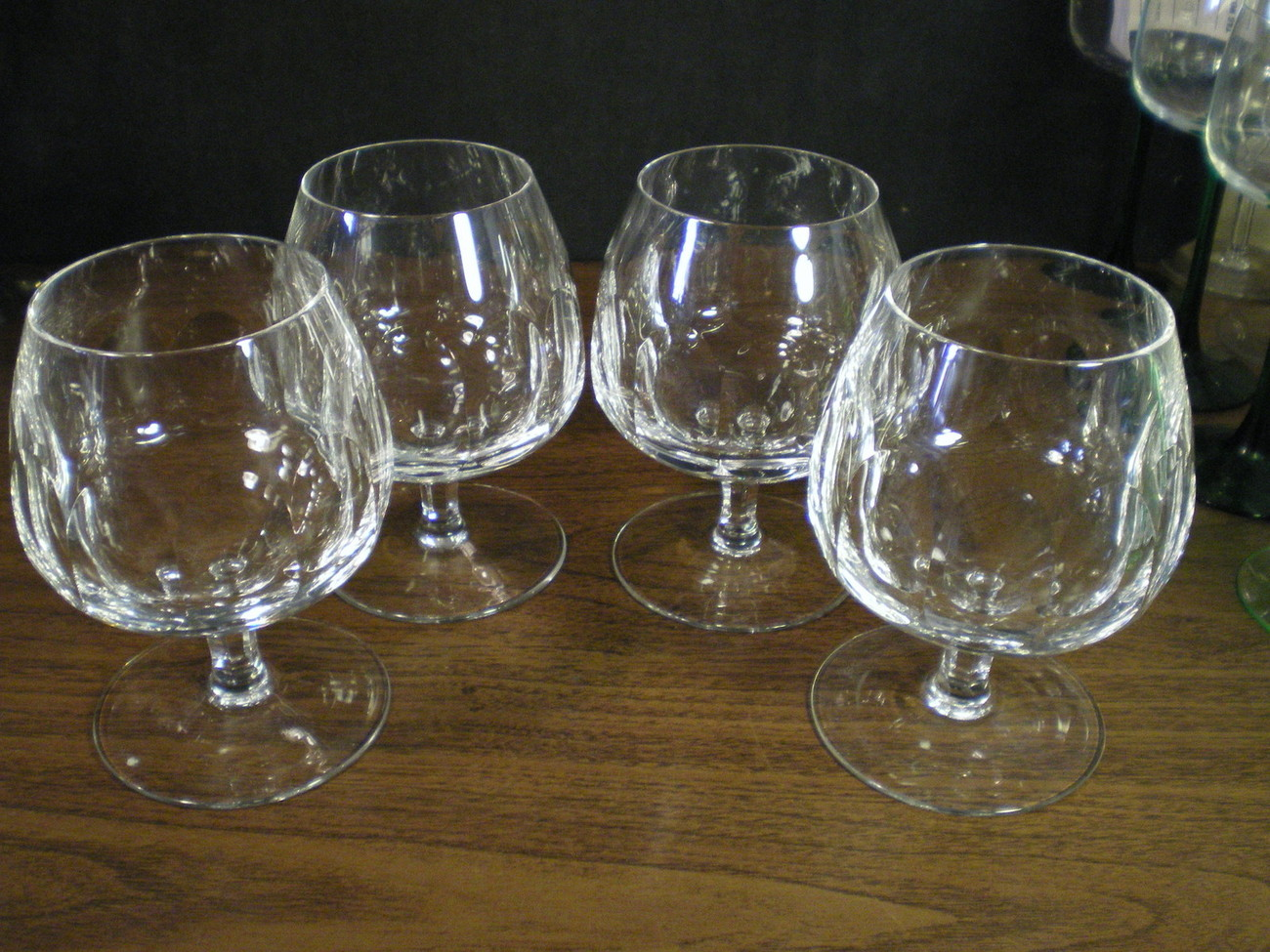 4 FANTASIC CESKCI BRANDY SNIFTERS~~these are special~~SIGNED~