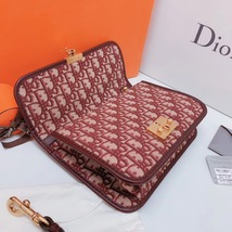 NEW AUTH Christian Dior Red Monogram Messenger Crossbody Bag  image 5