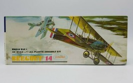 "1963 Aurora 1/4"" Scale WWI Breguet 14 Airplane Model Kit Unassembled Ope... - $69.18"