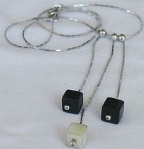 Black and white cubes necklace 3 thumb200